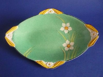 Lovely Burleigh Ware Art Deco 'Narcissus' Finned Dish c1935 - Pattern 5677